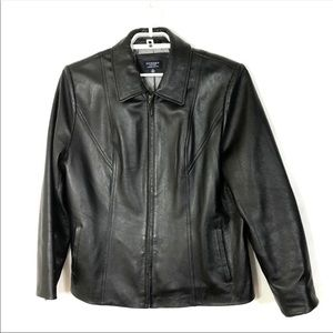 Men's Lamskin Black Leather Jacket